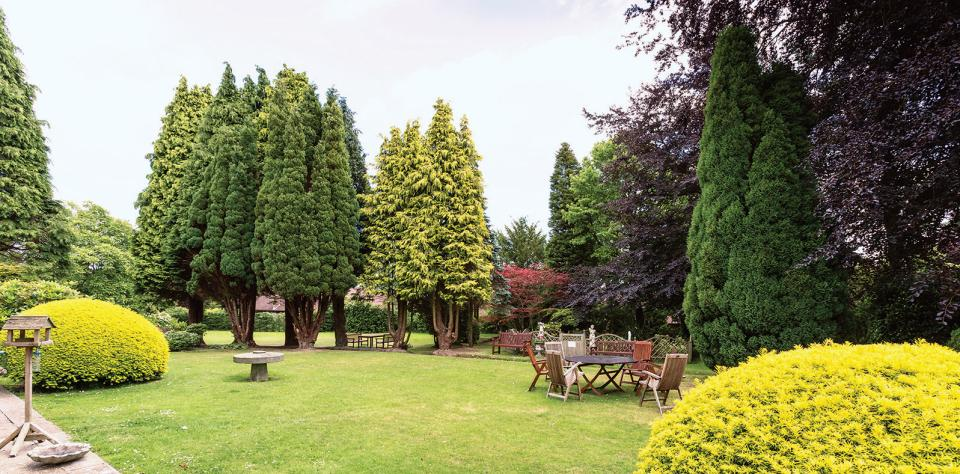 Gardens at Cross Lane House Residential Care Home in East Sussex