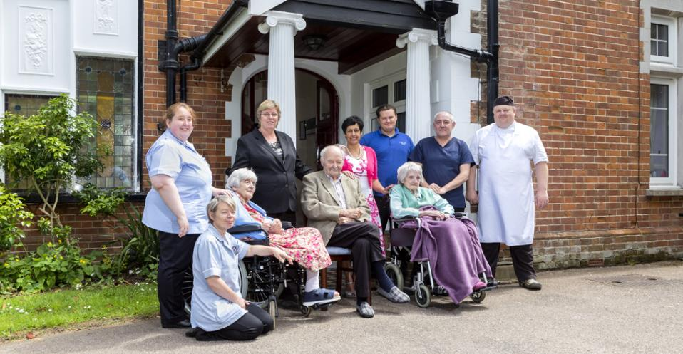 Staff at Cross Lane House Residential Care Home in East Sussex